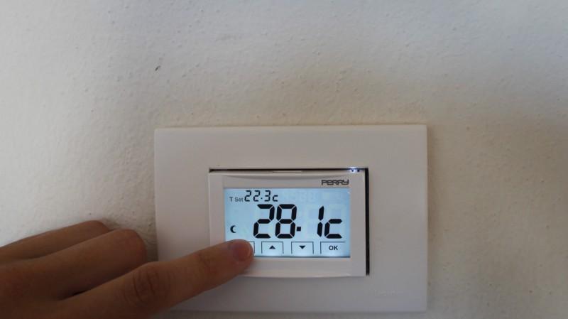 Touchscreen für Klimaregulierung